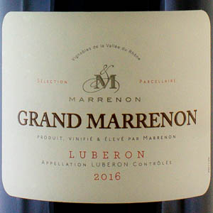 Côtes du Lubéron Grand Marrenon 2016 Rouge