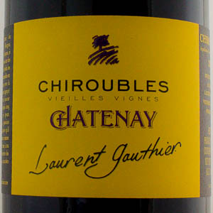 Chiroubles Chatenay Domaine Laurent Gauthier 2017 Rouge