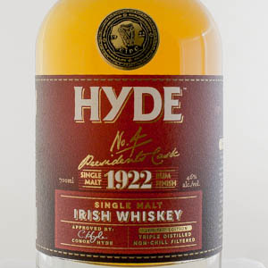 Irish Whiskey Hyde 6 ans n° 4 finition Rhum Single Malt 1922