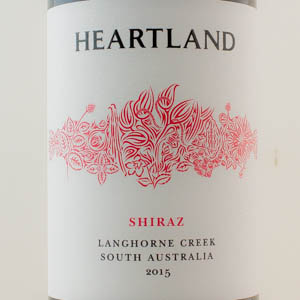 Australie Shiraz Langhorne Creek Heartland 2015 Rouge