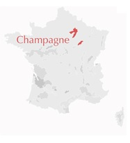 Carte Champagne Reims