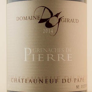Chateauneuf du Pape Giraud Grenaches Pierre 2014 Rouge