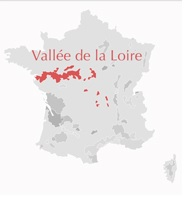 Carte Vallée de la Loire France