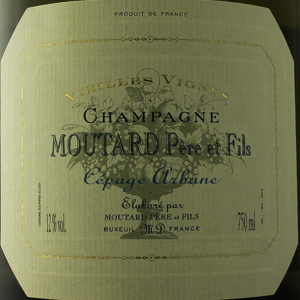 Champagne Moutard Cuvée Arbane 2012