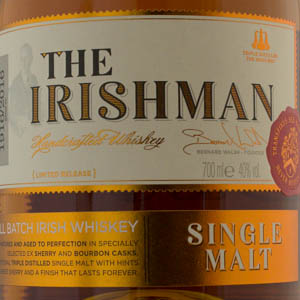 Whisky Irlande Irishman Single Malt 10 ans 40%