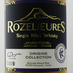 Whisky France Lorraine Rozelieures Origine Collection 40% 70 cl