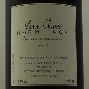 Hermitage Yann Chave 2015 Rouge