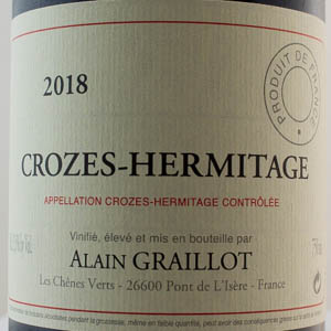 Crozes Hermitage rouge Alain Graillot 2018
