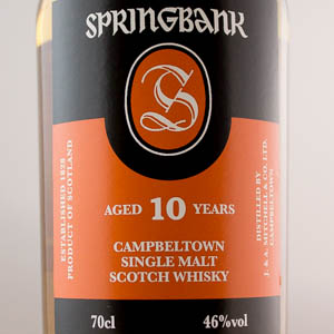 Whisky Ecosse Springbank 10 ans 46%