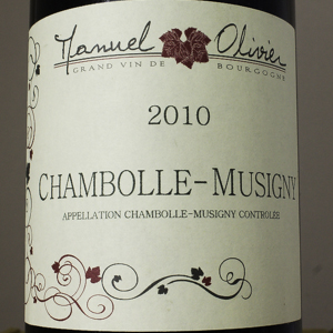 Chambolle Musigny Manuel Olivier 2010 Rouge 75 cl