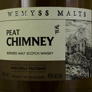 Whisky Ecosse Wemyss Peat Chimney Blended Malt 40%