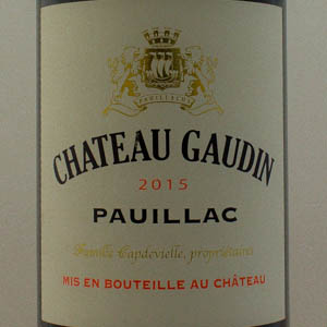 Pauillac Château Gaudin 2015 Rouge