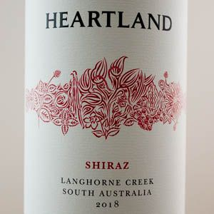Australie Shiraz Langhorne Creek Heartland 2018 Rouge