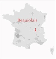 Carte Beaujolais France