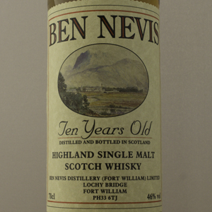 Whisky Ecosse Ben Nevis 10 ans Single Malt 46%