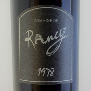 Rivesaltes Ambré Domaine Rancy 1978
