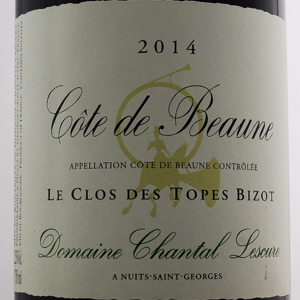 Côte de Beaune Chantal Lescure Clos des Topes Bizot 2014 Rouge