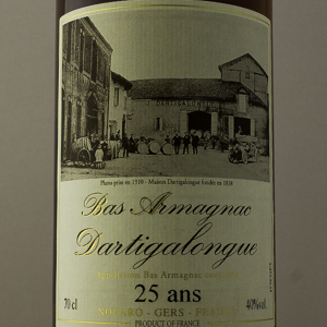 Bas Armagnac Dartigalongue 25 ans 40% 70 cl