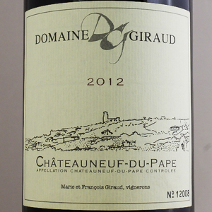 Châteauneuf Du Pape Domaine Giraud 2012 Rouge