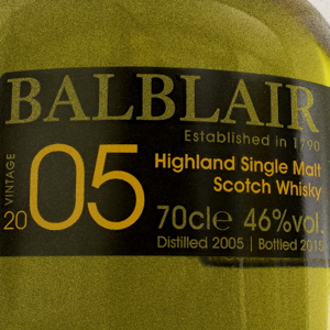 Whisky Ecosse Balblair 2005 Single Malt 46%