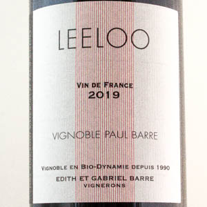 Vin de France Leeloo Paul Barre 2019 Rouge