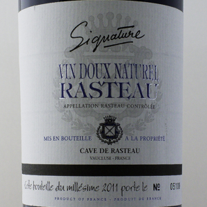Rasteau VDN Cave de Rasteau Signature 2011 Rouge