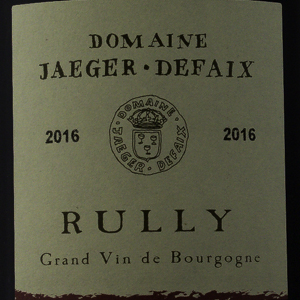 Rully Domaine Jaeger Defaix 2016 Rouge