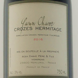 Crozes-Hermitage Yann Chave Tradition Rouge 2016