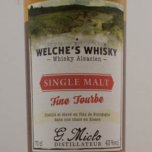 Whisky Alsacien Welche's Single Malt Fine Tourbe 43%
