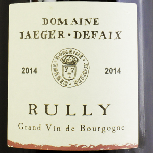 Rully Domaine Jaeger Defaix 2014 Rouge 75 cl