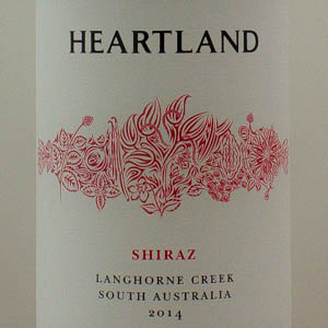 Australie Shiraz Langhorne Creek Heartland 2014 Rouge