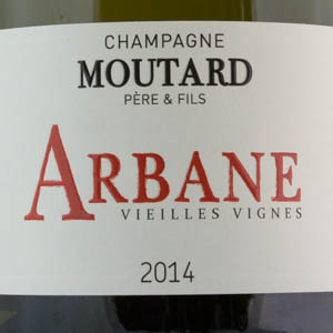 Champagne Moutard Cuvée Arbane 2014