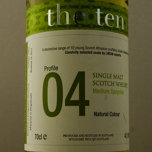 Whisky Ecosse The Ten 04 Medium Speyside 40,1°C