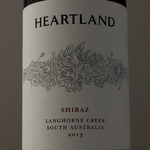 Australie Shiraz Langhorne Creek Heartland 2013 Rouge