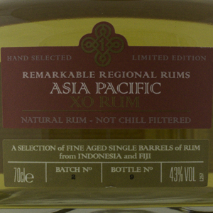 Rum & Cane Asia Pacific X.O 70 cl 43%