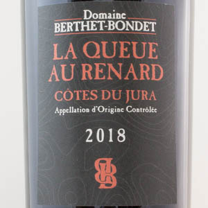 Côtes du Jura La Queue de Renard 2018 rouge Berthet Bondet