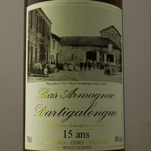 Bas Armagnac Dartigalongue 15 ans 40% 70 cl