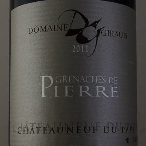 Chateauneuf du Pape Giraud Grenaches Pierre 2011 Rouge
