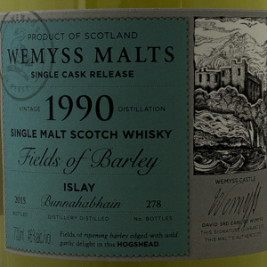 Whisky Ecosse Wemyss Malts Fields Of Barley 1990 46°