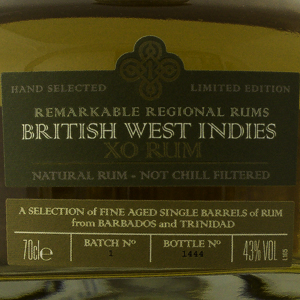 Rum & Cane British West Indies X.O 43%