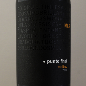 Argentine Punto Final Malbec Classico 2014 Rouge