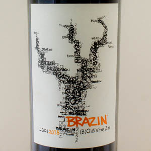USA Californie Brazin Zinfandel Lodi 2015 Rouge
